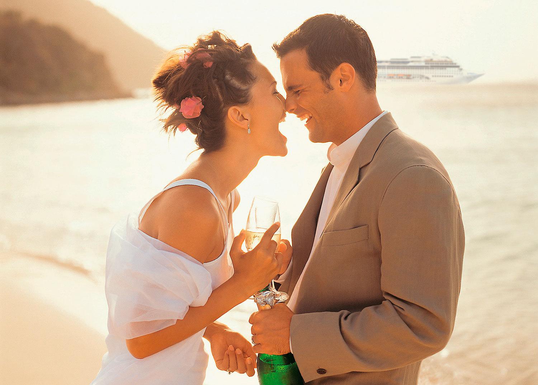 Gift er på fartyget –eller stranden. Foto: MSC Cruises