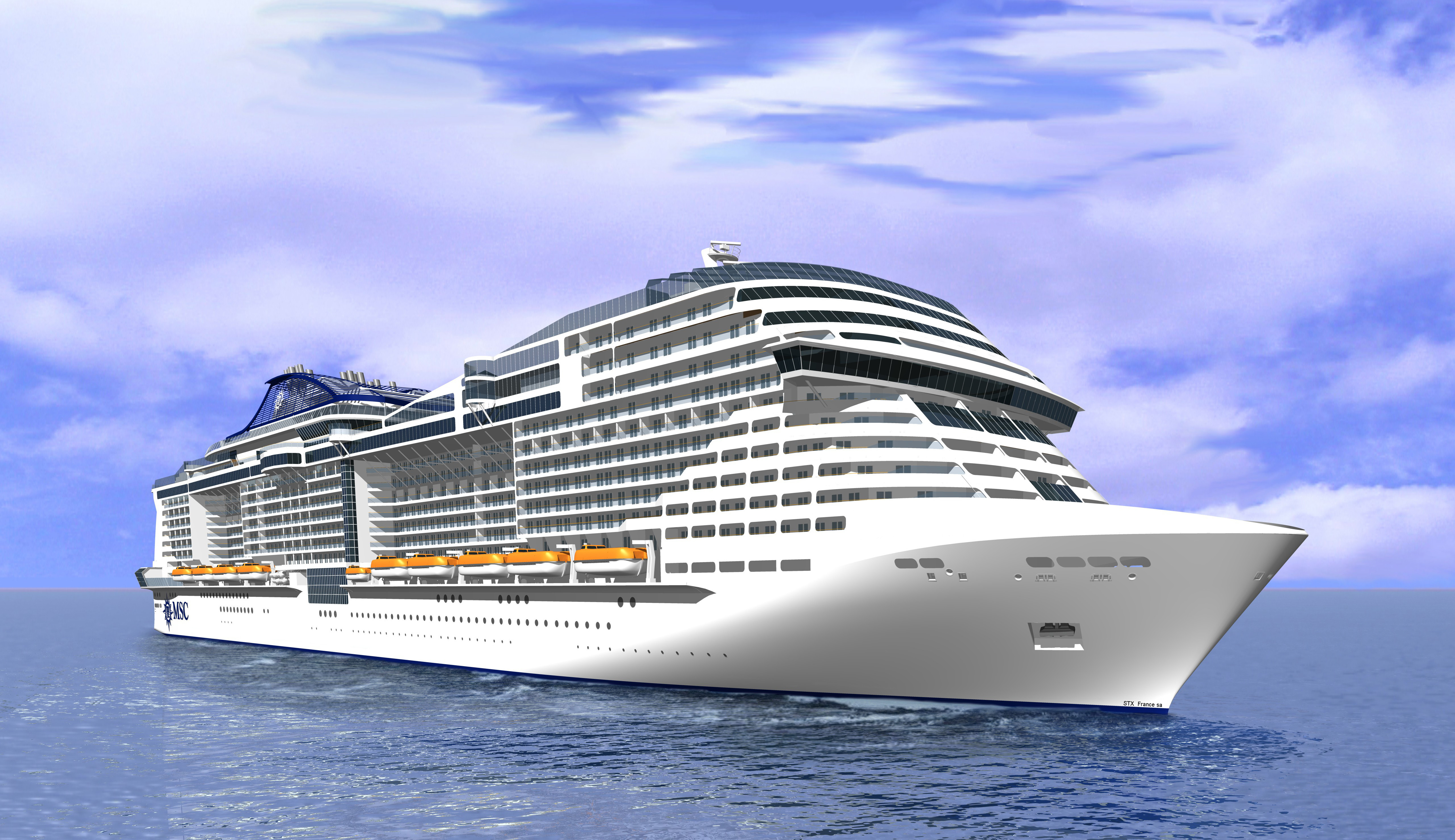 MSC Meraviglia kan ta 5700 gäster. Foto: MSC Cruises