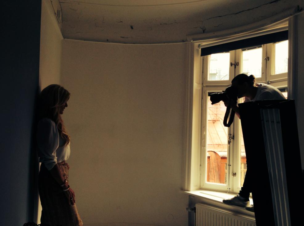 Silvstedt fotograferas av Aftonbladets fotograf Robin Lorentz-Allard.
