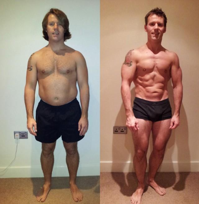 före och efter viktminskning