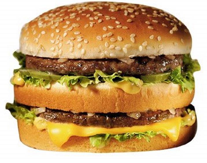 hur många kalorier innehåller en cheeseburgare
