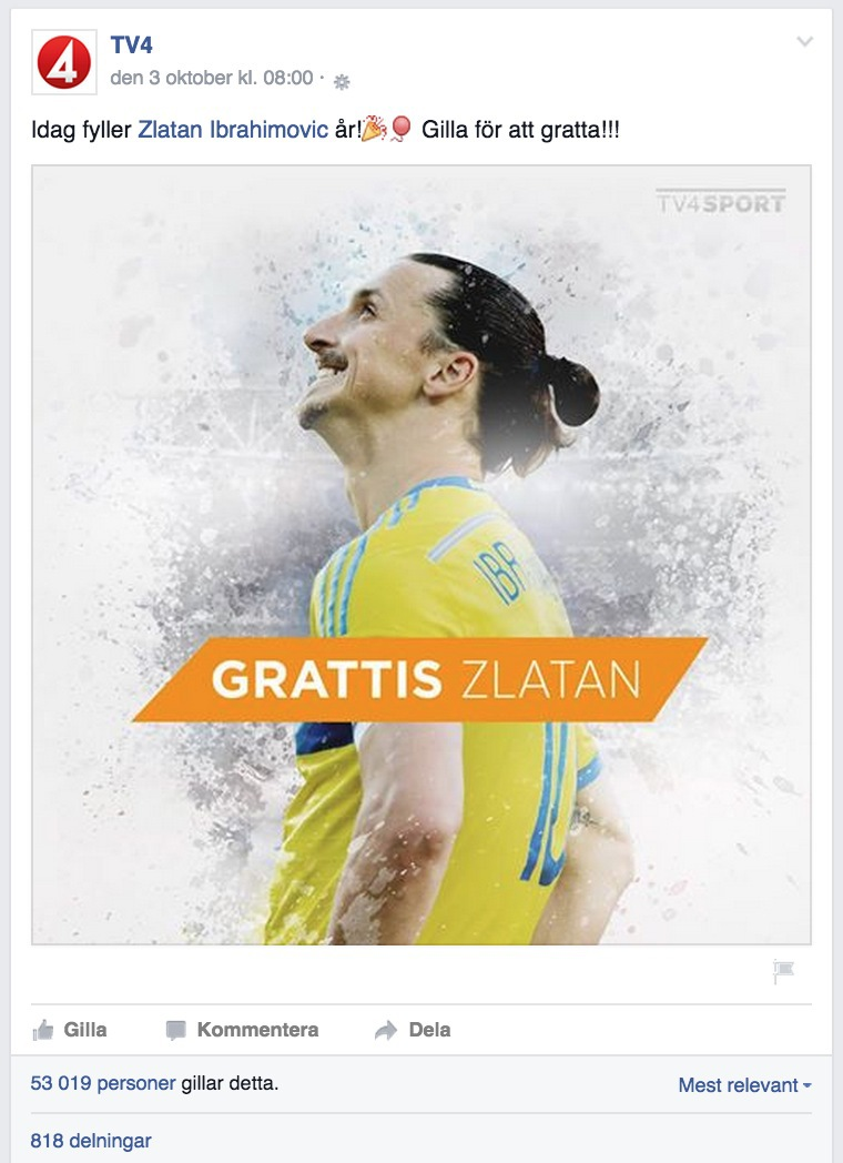 gratta födelsedag TV4 bad folk gratta Zlatan på födelsedagen – men Håkan vägrade  gratta födelsedag