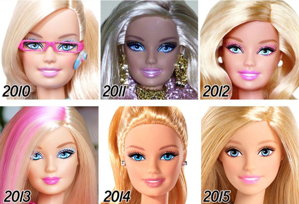 Barbie genom tiderna
