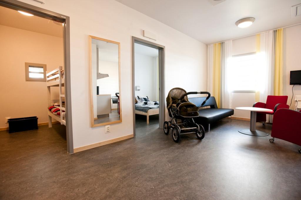 Besökslägenhet på anstalten Saltvik