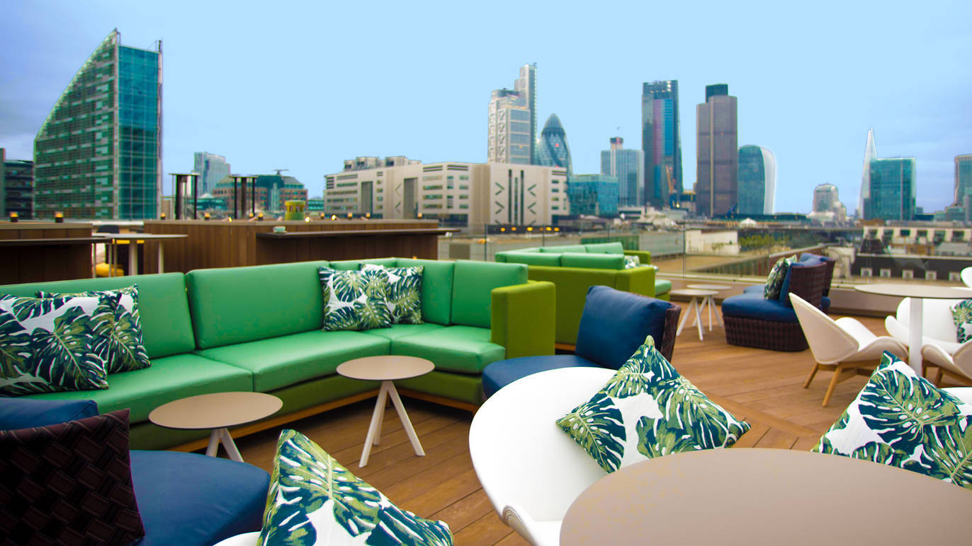 Kolla denna utsikt! Det är dock tveksamt om Aviary någonsin kommer att vara så tom igen. Foto: Time Out London.
