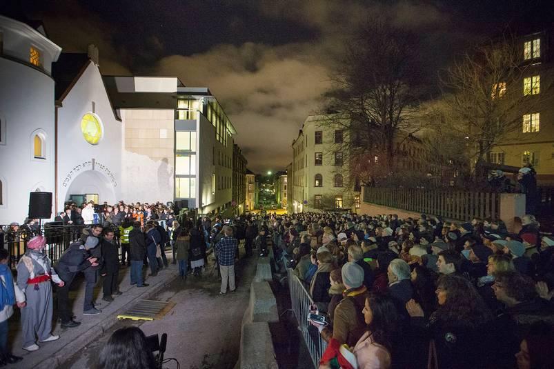 I Oslo kom över 1000 personer. Foto: TT.