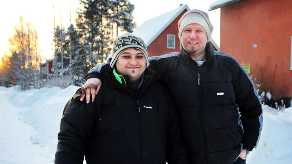 När Jörgen Grankvist insåg att tiggaren Valentin Husear sov i en bild i den stränga kylan, gjorde han slag i saken och bjöd hem honom.  Foto: Gunilla Sjögren/Västerbottens-Kuriren