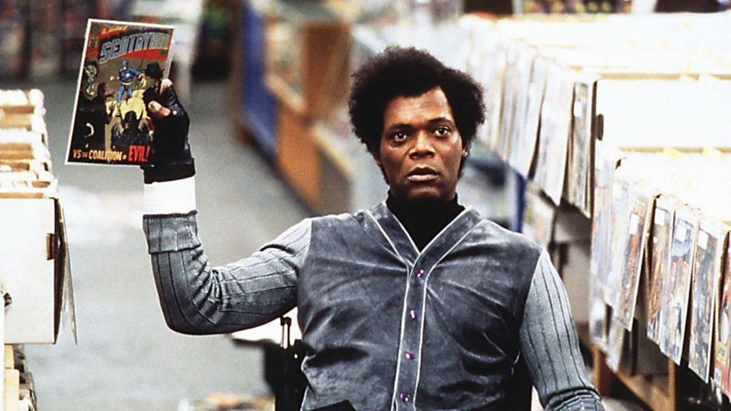 """Samuel L Jackson som Glass i """"Unbreakable""""."""
