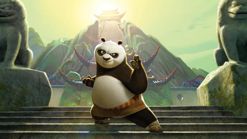 kung fu panda animerad familjefilm. pandan po (jack black)