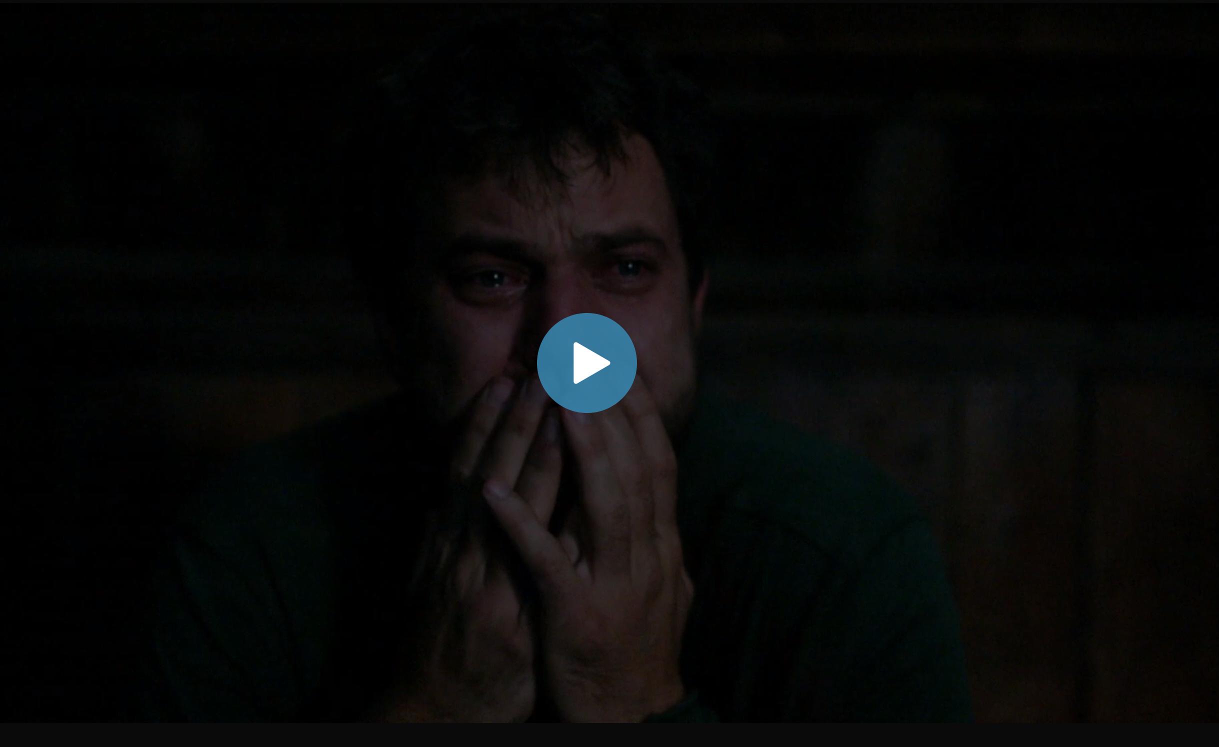 """Skärmdump från veckans avsnitt av """"The affair"""". Smärtsam scen med Coles sista minuter i deras hus."""