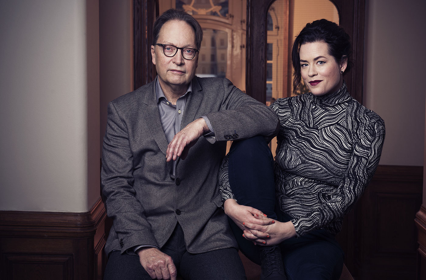 Horace Engdahl och Liv Strömqvist. Foto: Karl Nordlund/SVT