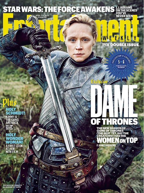 Gwendoline Christie som spelar Brienne of Tarth. Foto: EW