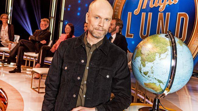 "Kristian Luuk leder ""Fråga Lund"". Foto: SVT"