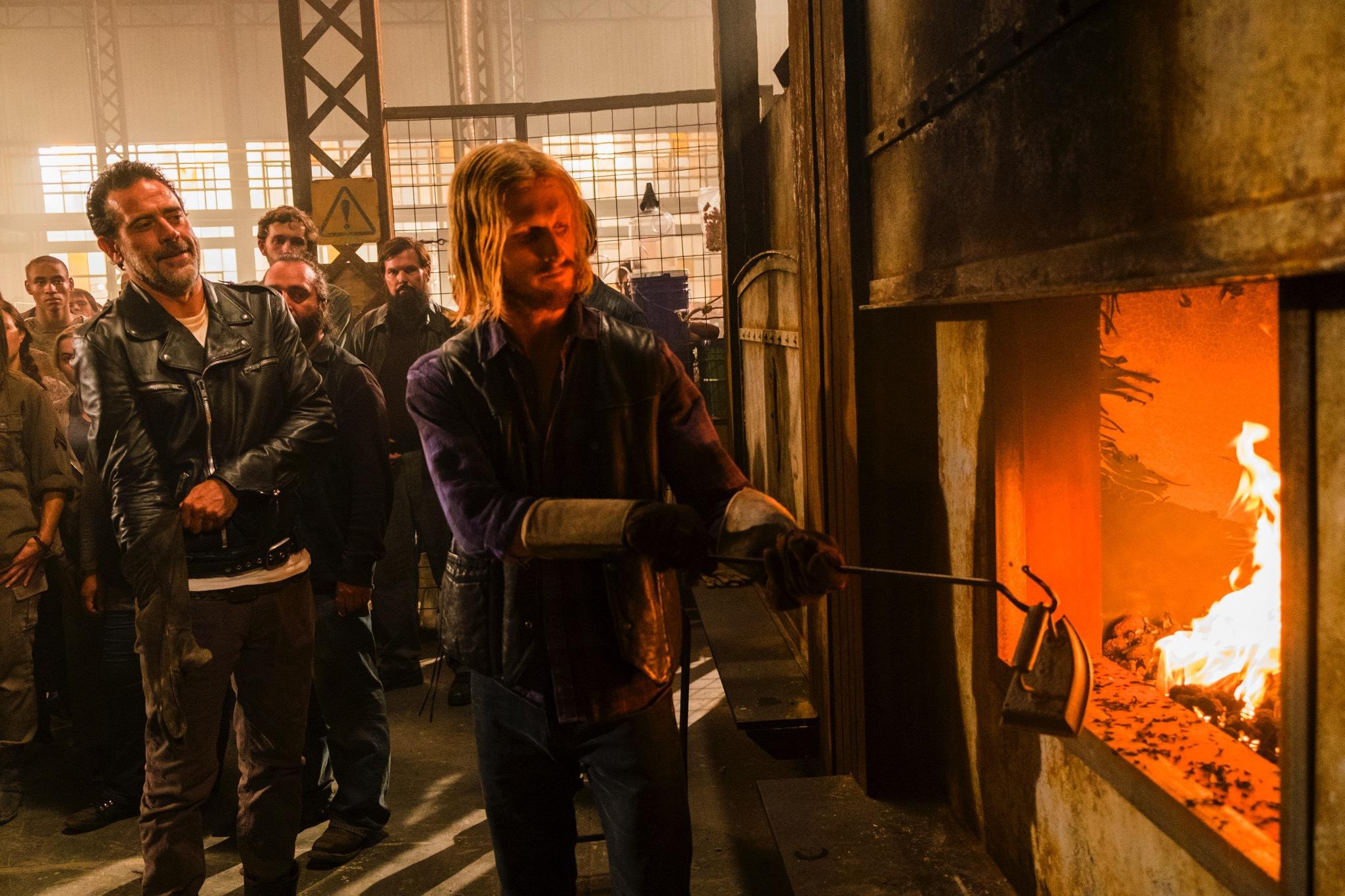 Austin Amelio as Dwight, Jeffrey Dean Morgan as Negan- The Walking Dead _ Season 7, Episode 7 - Photo Credit: Gene Page/AMC
