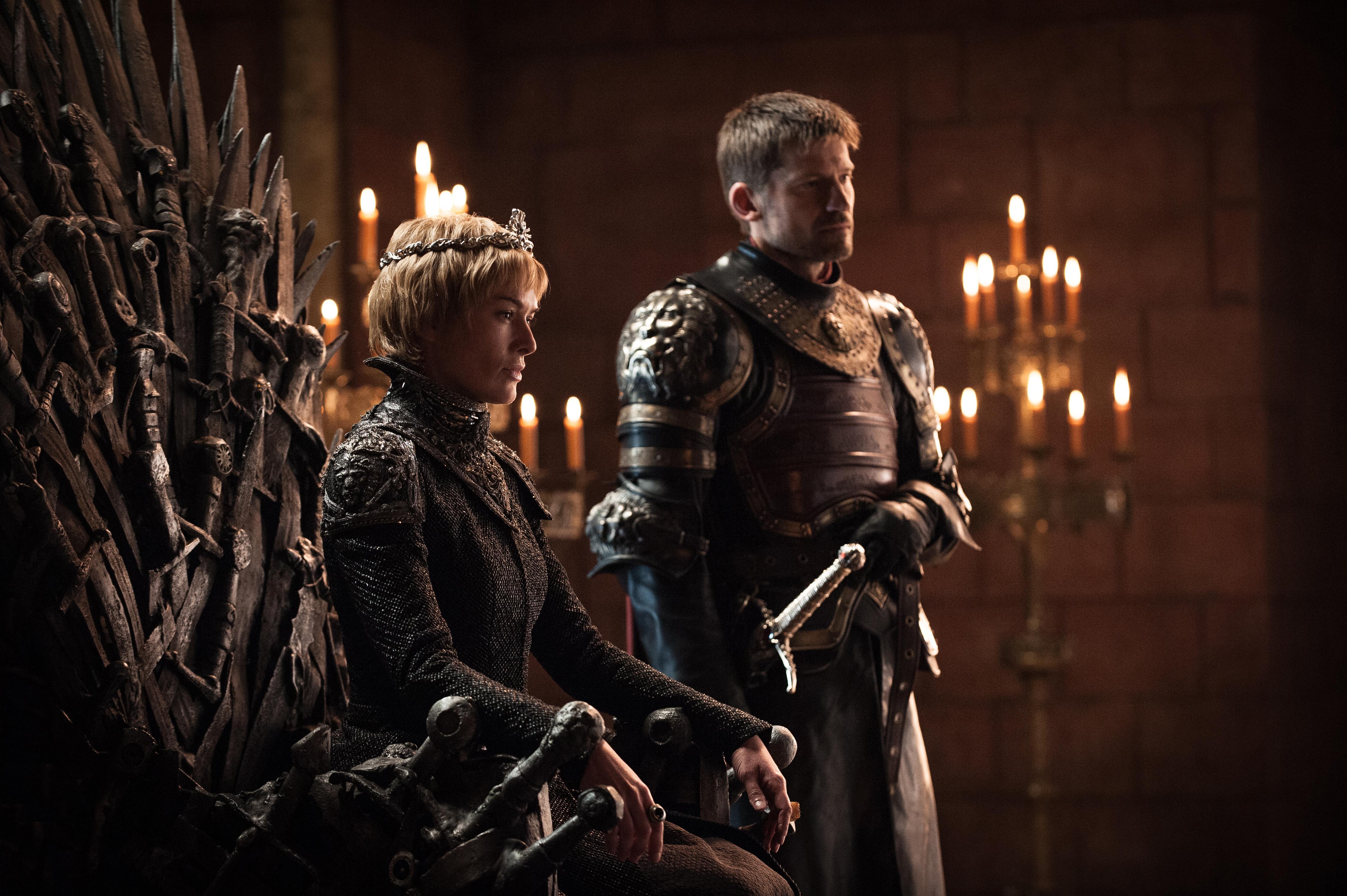 Lena Headey som Cersei Lannister och Nikolaj Coster-Waldau som Jaime Lannister. Foto: Helen Sloan/HBO.