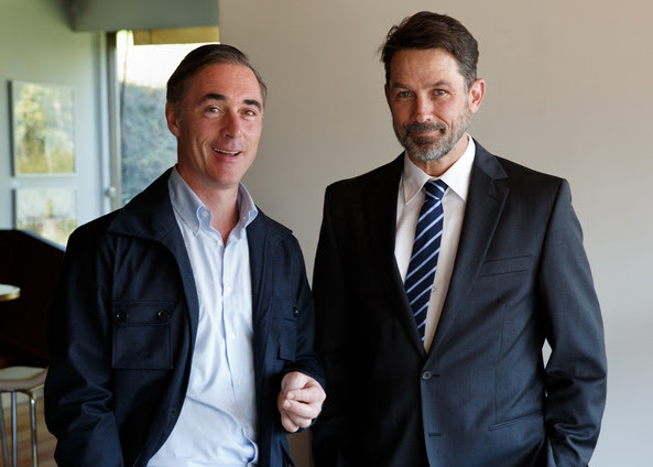 Greg Wise och Billy Campbell, nya stjärnor i Modus. Foto: Johan Paulin/C More/Miso Film