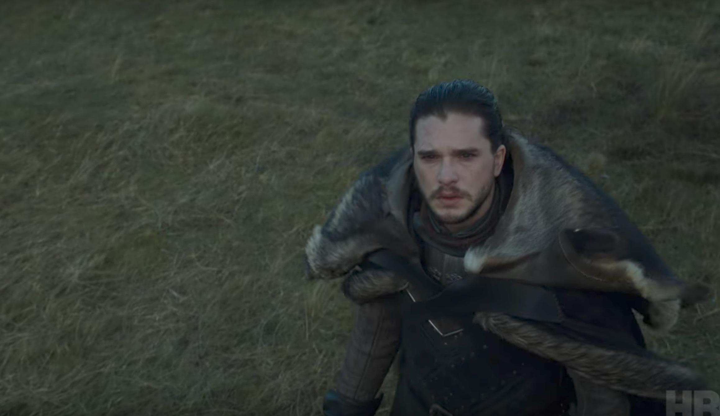 Jon ser Daenarys med drake.