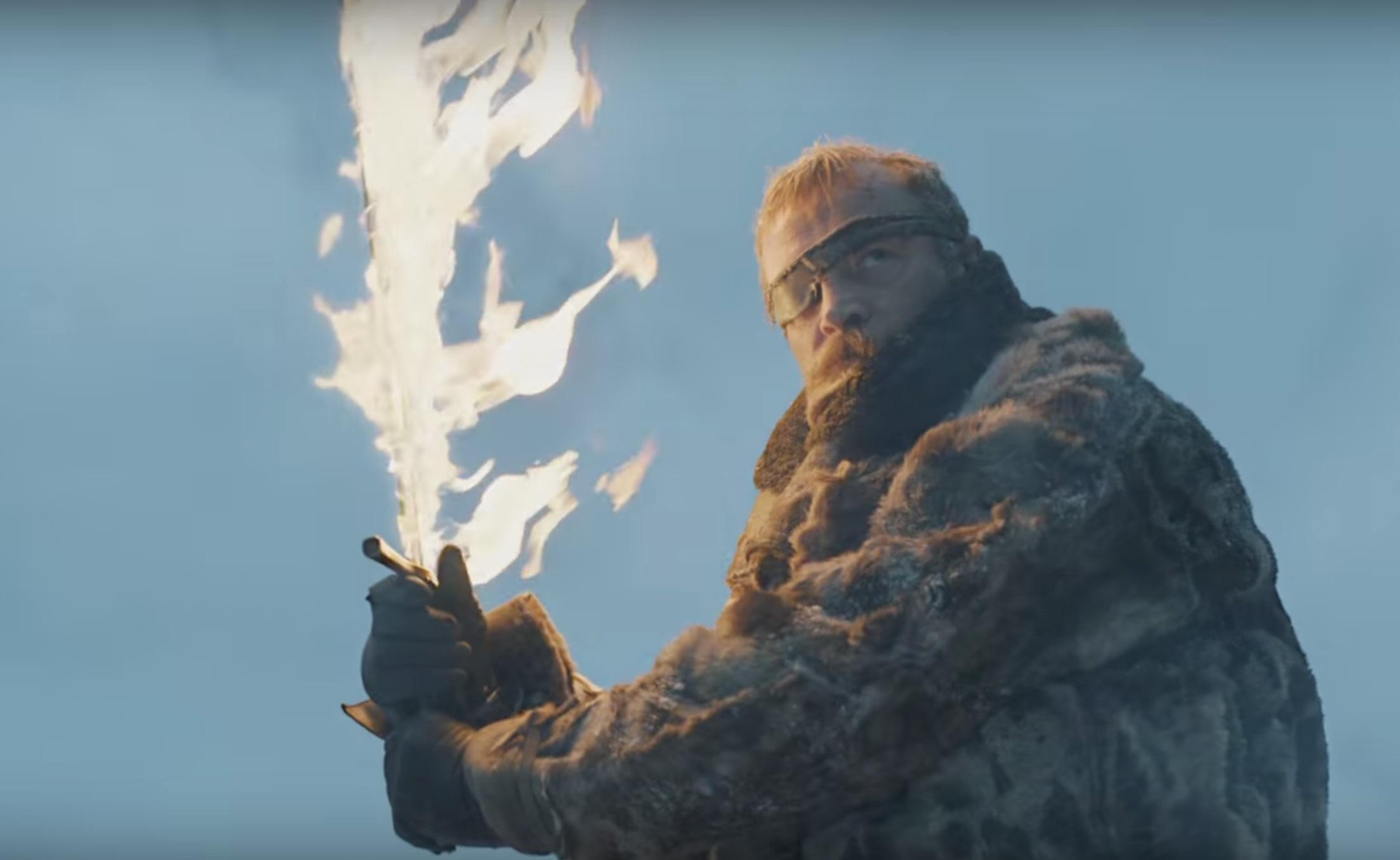 Beric Dondarrion och ett brinnande svärd.