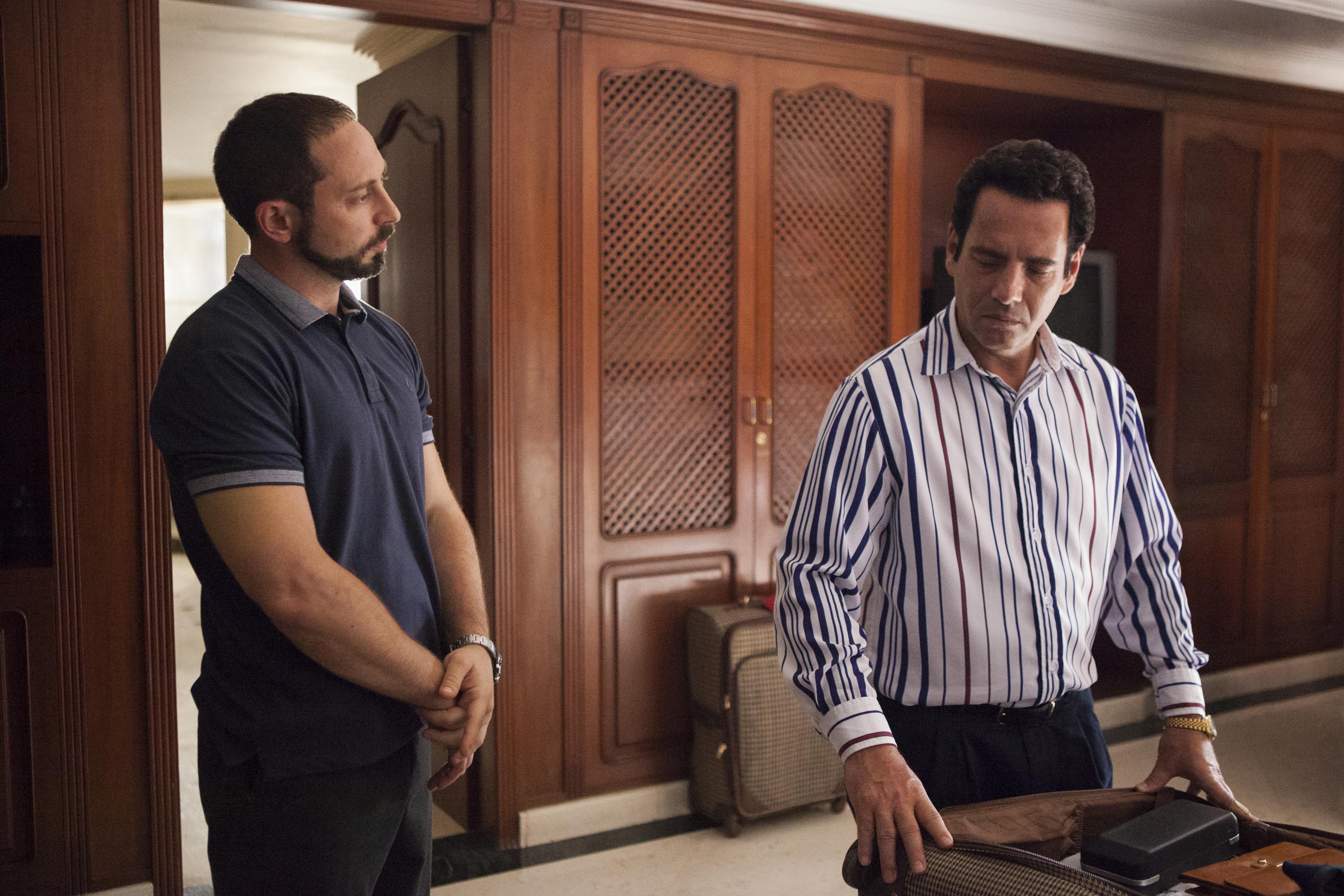 Matias Varela som Jorge Salcedo, och Francisco Denis som Miguel Rodriguez Orejuela.