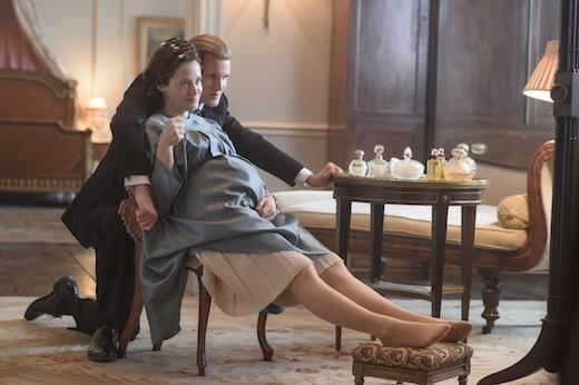 """Matt Smith och Claire Foy i säsong två av """"The crown"""". Foto: Netflix."""