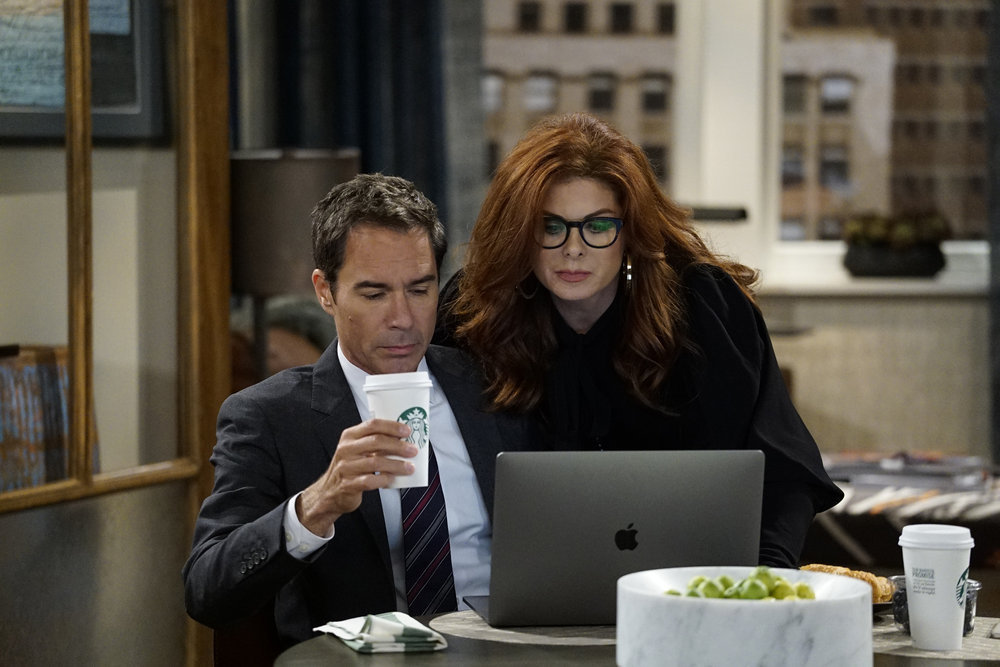 "Eric McCormack med Debra Messing i ""Will & Grace"". Foto: NBC."