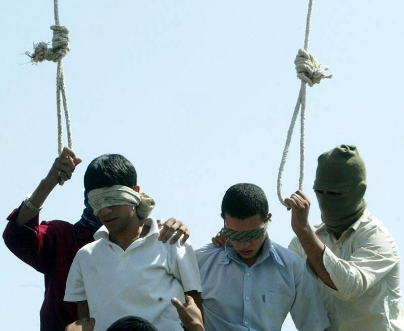 Avrättning i Iran. Foto: AP