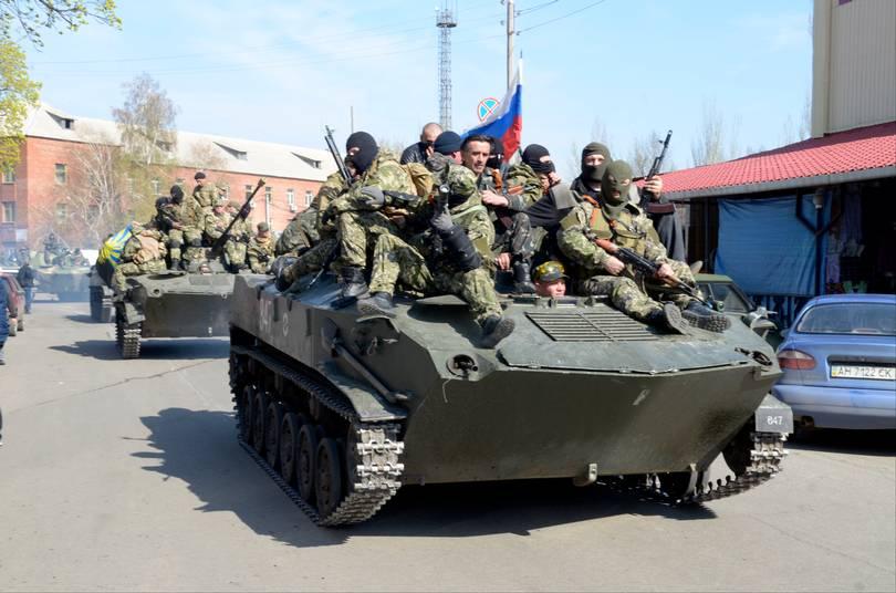 Proryska trupper har tagit över delar av östra Ukraina. Foto: Mats Strand