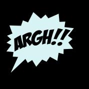 Comic-ARGH!,-Super-Hero,-Cartoon,-Speech-Bubble