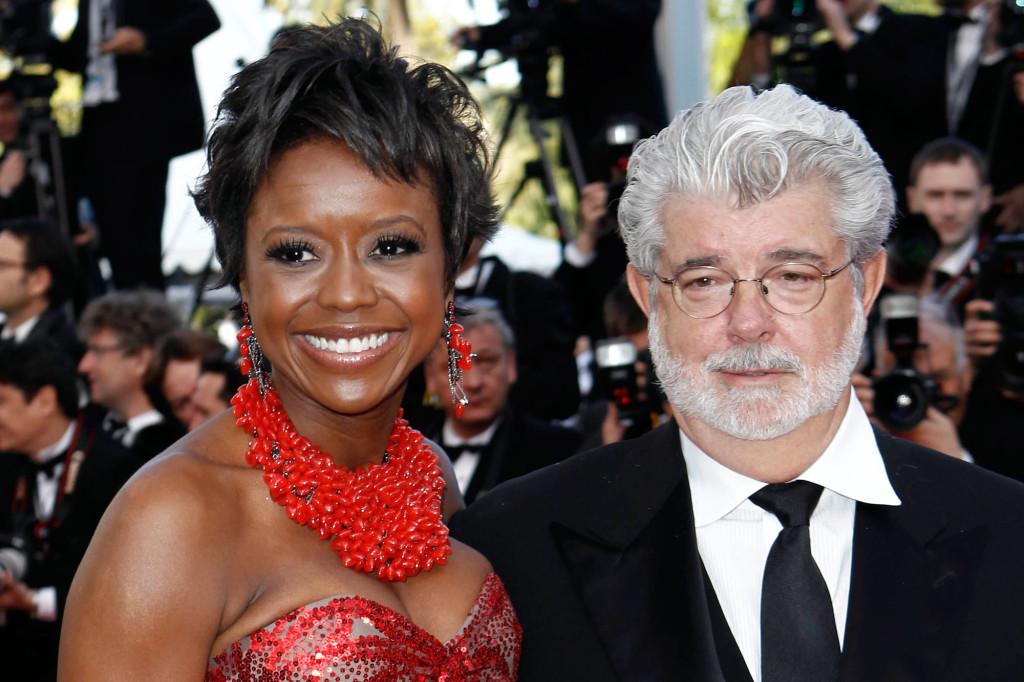 George Lucas tillsammans med Mellody Hobson under Cannes filmfestivalen 2010. Paret har varit tillsammans sedan 2006 och gifte sig 2013 på Lucas Skywalker ranch. Foto: AP
