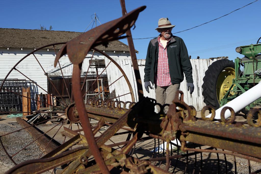 Tom driver fortfarande familjens gård, men numera odlar han mandlar.