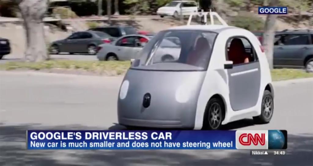 Polisen stoppade en Googlebil för att den körde för sakta. Problemet var bara att den saknade förare. Foto: CNN