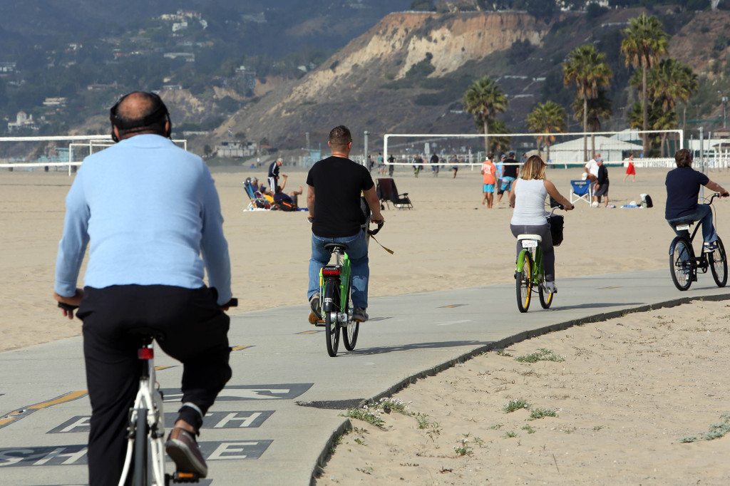 Nere vid stränderna i Venice och Santa Monica finns lånecyklar.