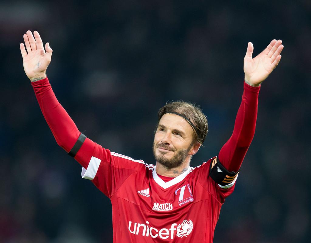 David Beckham, fotbollsproffs, 1975.
