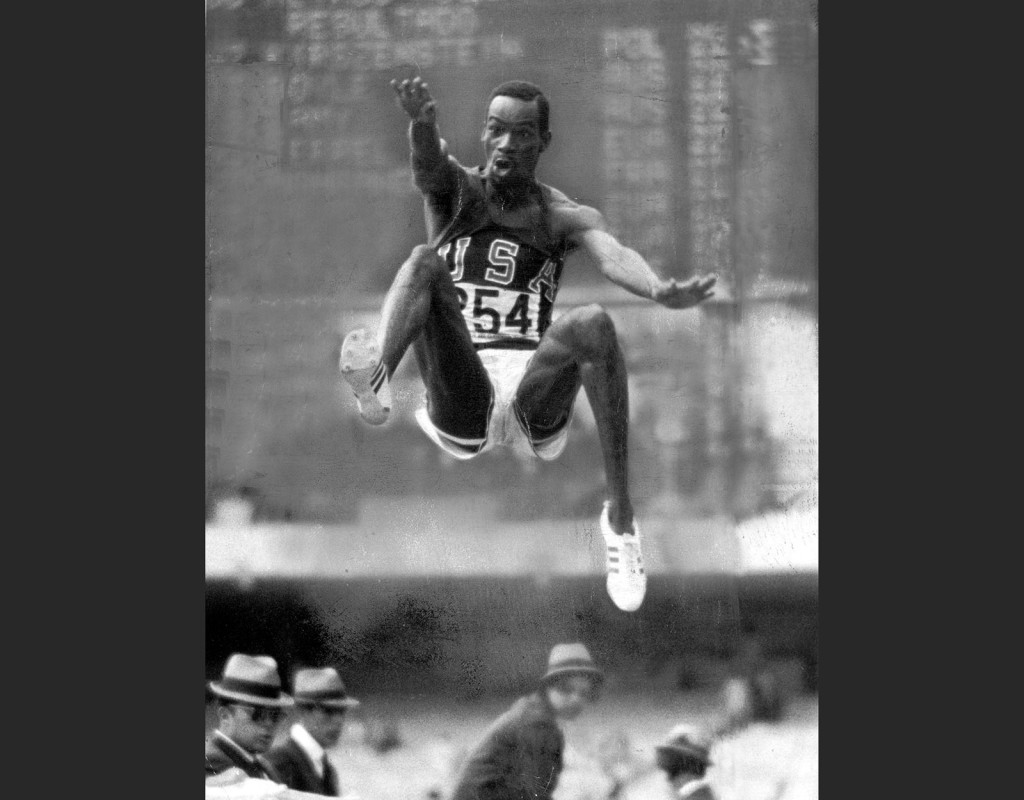"""Bob Beamon, (1946), USA, friidrott. OS-guld 1968. Innehavare av """"omöjliga"""" världsrekordet i längdhopp, 8,90 meter, i 22 år."""