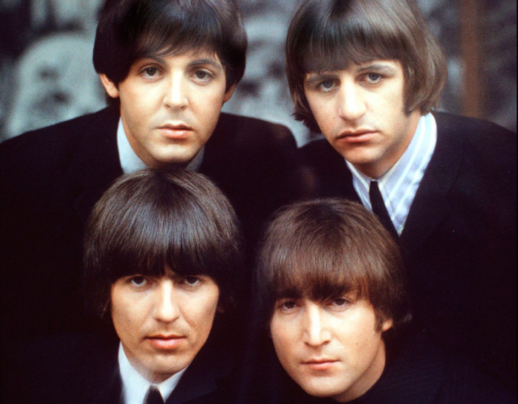 The Beatles: Paul McCartney, Ringo Starr, George Harrison och John Lennon.