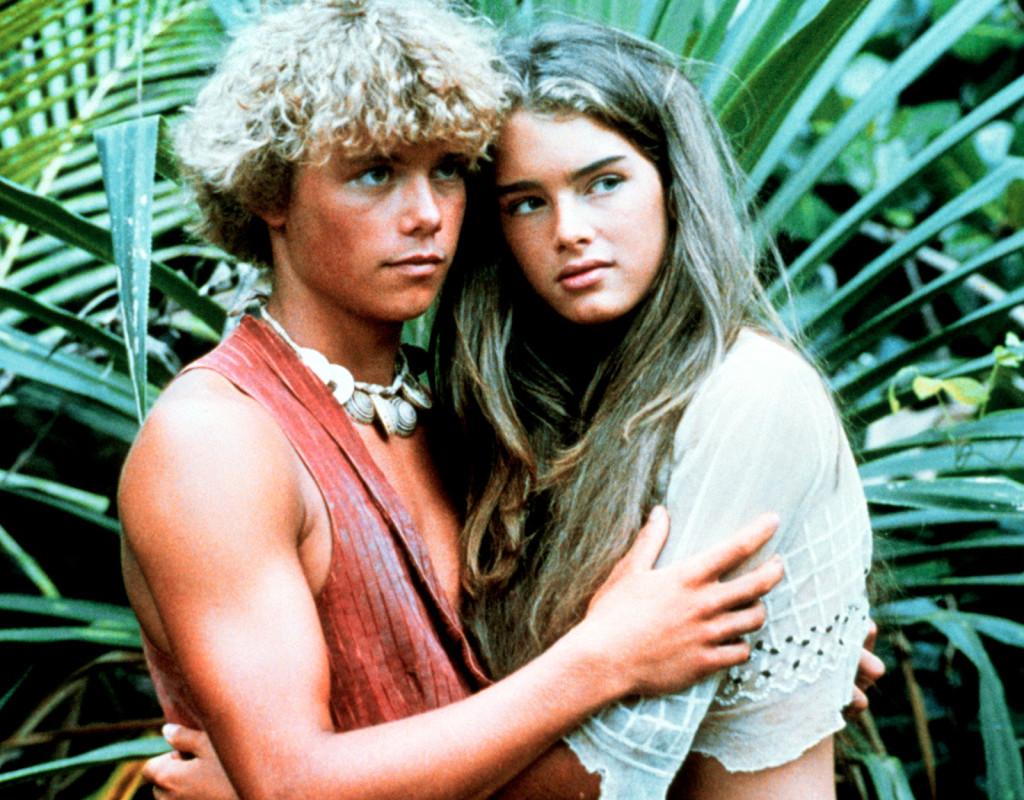 Christopher Atkins och Brooke Shields i filmen Den blå lagunen (1980).