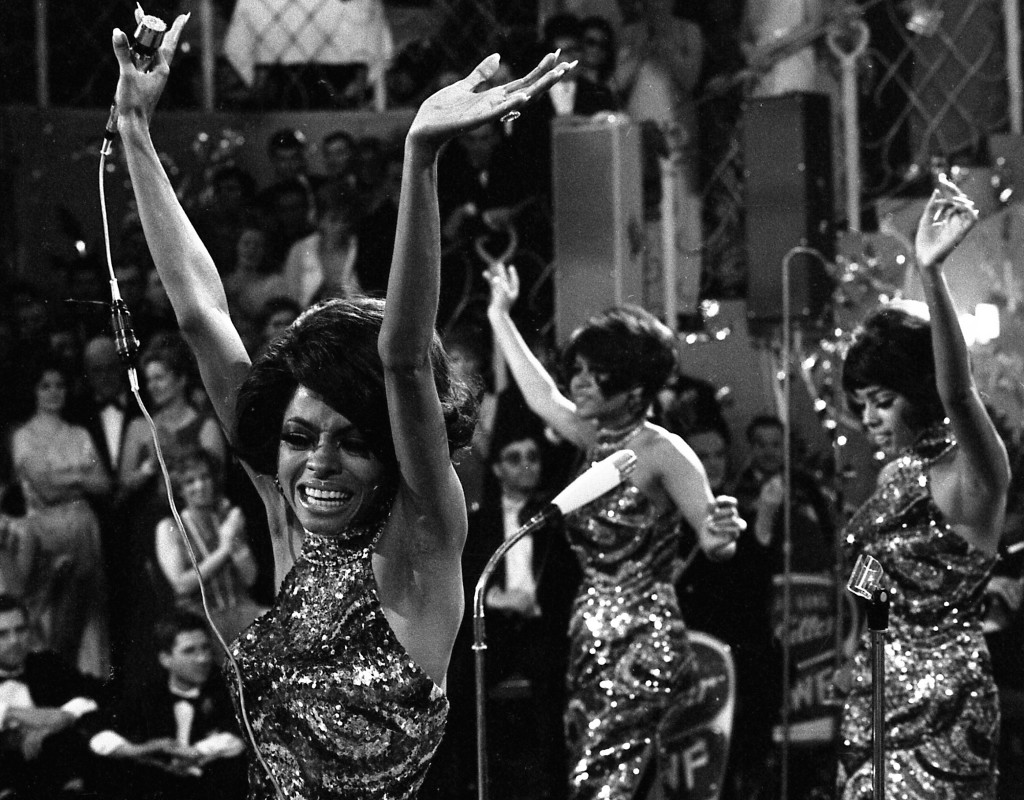 Diana Ross, sångerska i bandet The Supremes.