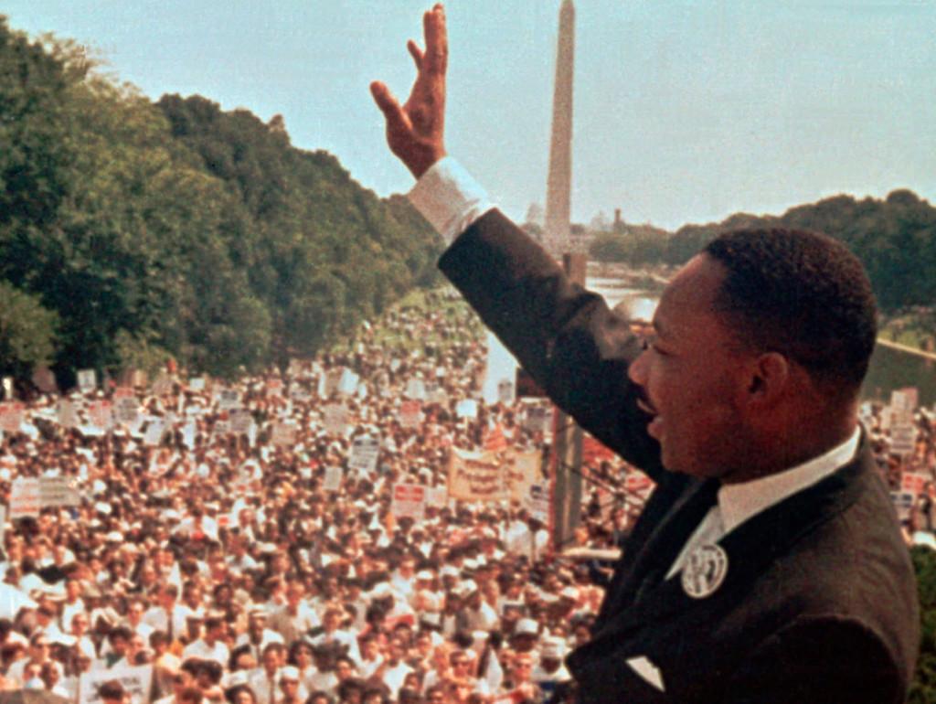 Martin Luther King, medborgarrättskämpe.