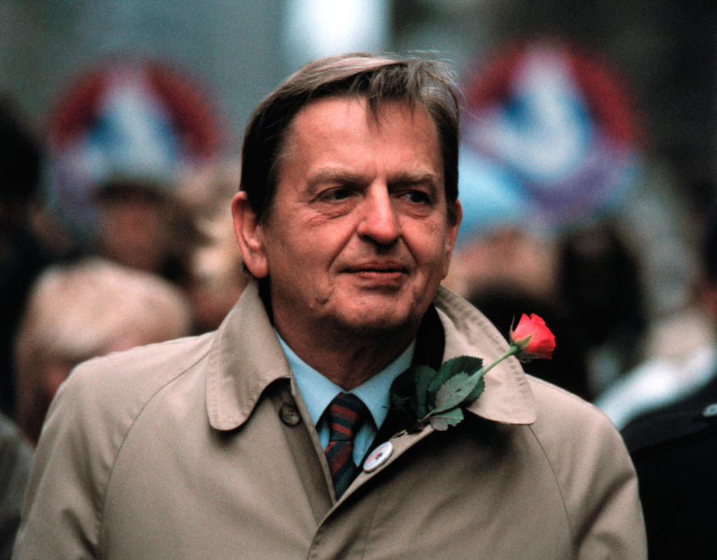 Olof Palme, svensk politiker (S).
