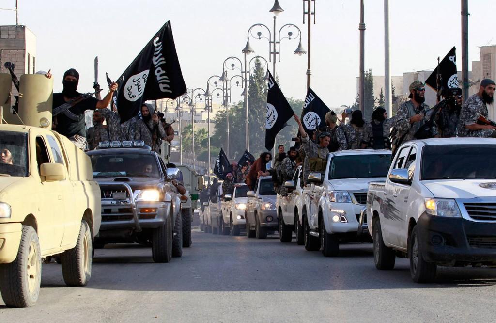 IS i staden Raqqa, Syrien. Foto: AP
