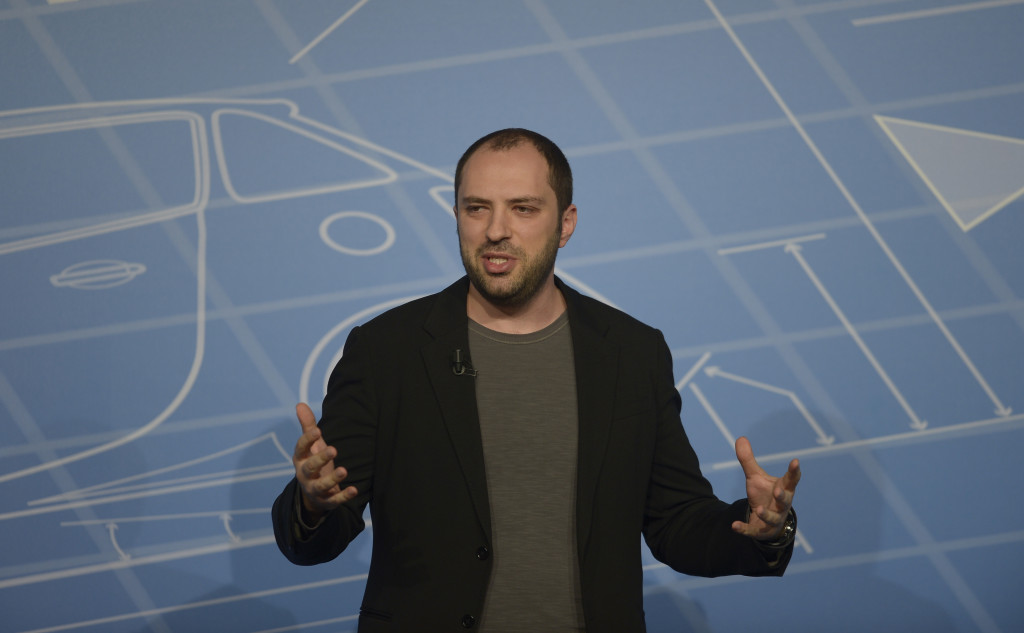 Co-founder and CEO of Whatsapp Jan Koum speaks during a conference at the Mobile World Congress, the world's largest mobile phone trade show in Barcelona, Spain, Monday, Feb. 24, 2014. Expected highlights include major product launches from Samsung and other phone makers, along with a keynote address by Facebook founder and chief executive Mark Zuckerberg. (AP Photo/Manu Fernandez) / TT / kod 436