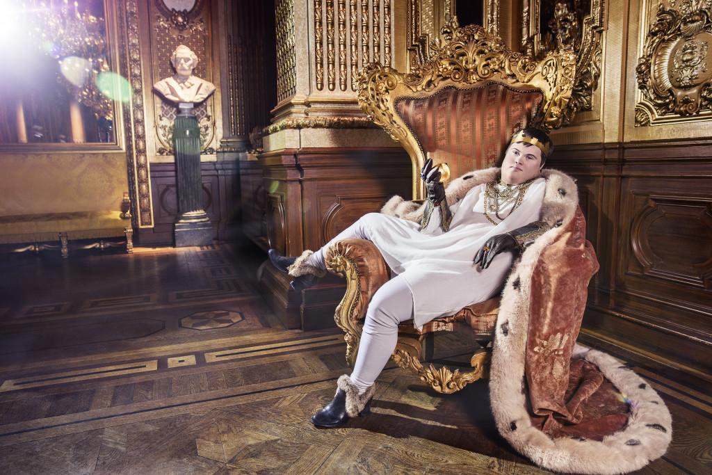 Kungen, ur Ikoner - en utställning om att få finnas, ett samarbete mellan Fotografiska och Glada Hudik-teatern. Foto: Emma Svensson.