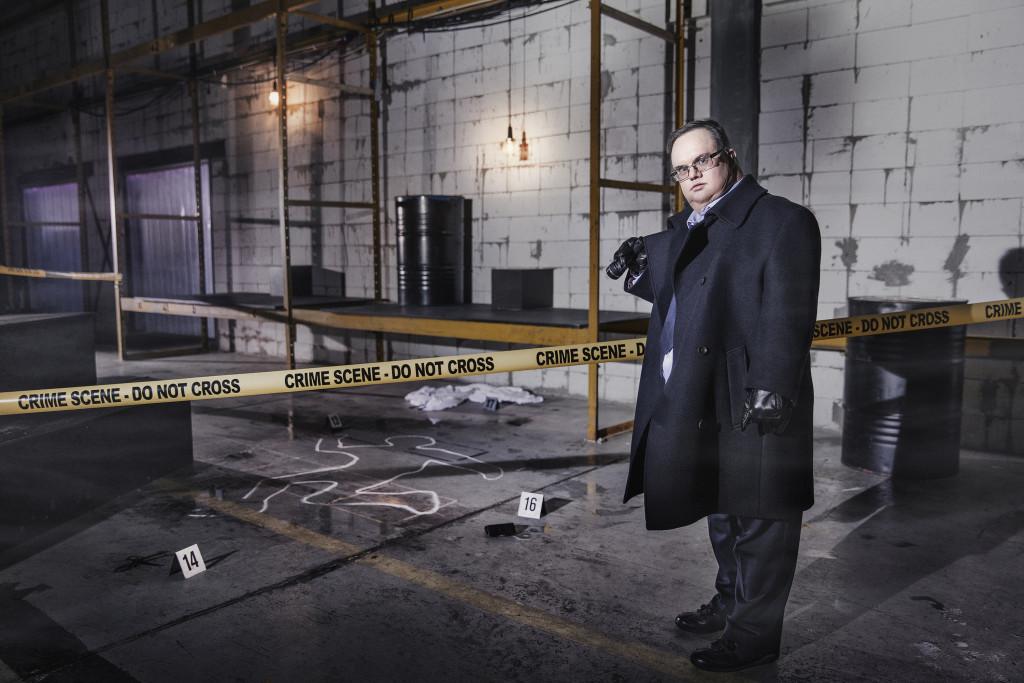 Polisen, ur Ikoner - en utställning om att få finnas, ett samarbete mellan Fotografiska och Glada Hudik-teater. Foto: Emma Svensson.