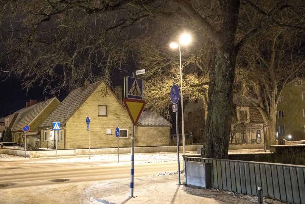 huset/platsen där kvinnan påstods vara våldtagen.