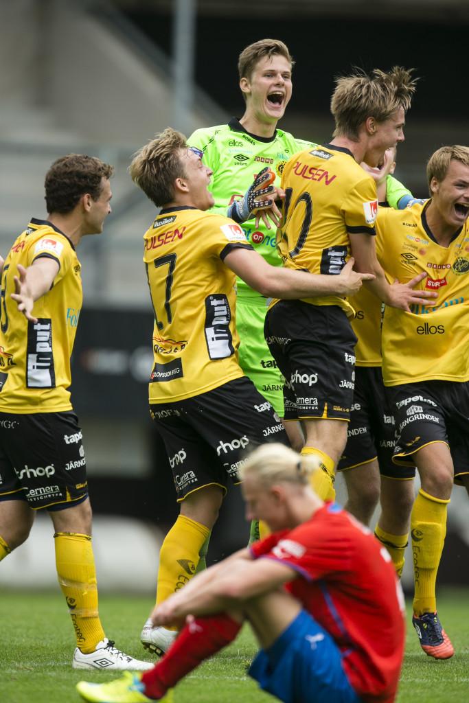 Stark i målet. Tim Rönning släppte bara in ett mål på hela turneringen. Foto: Anders Deros