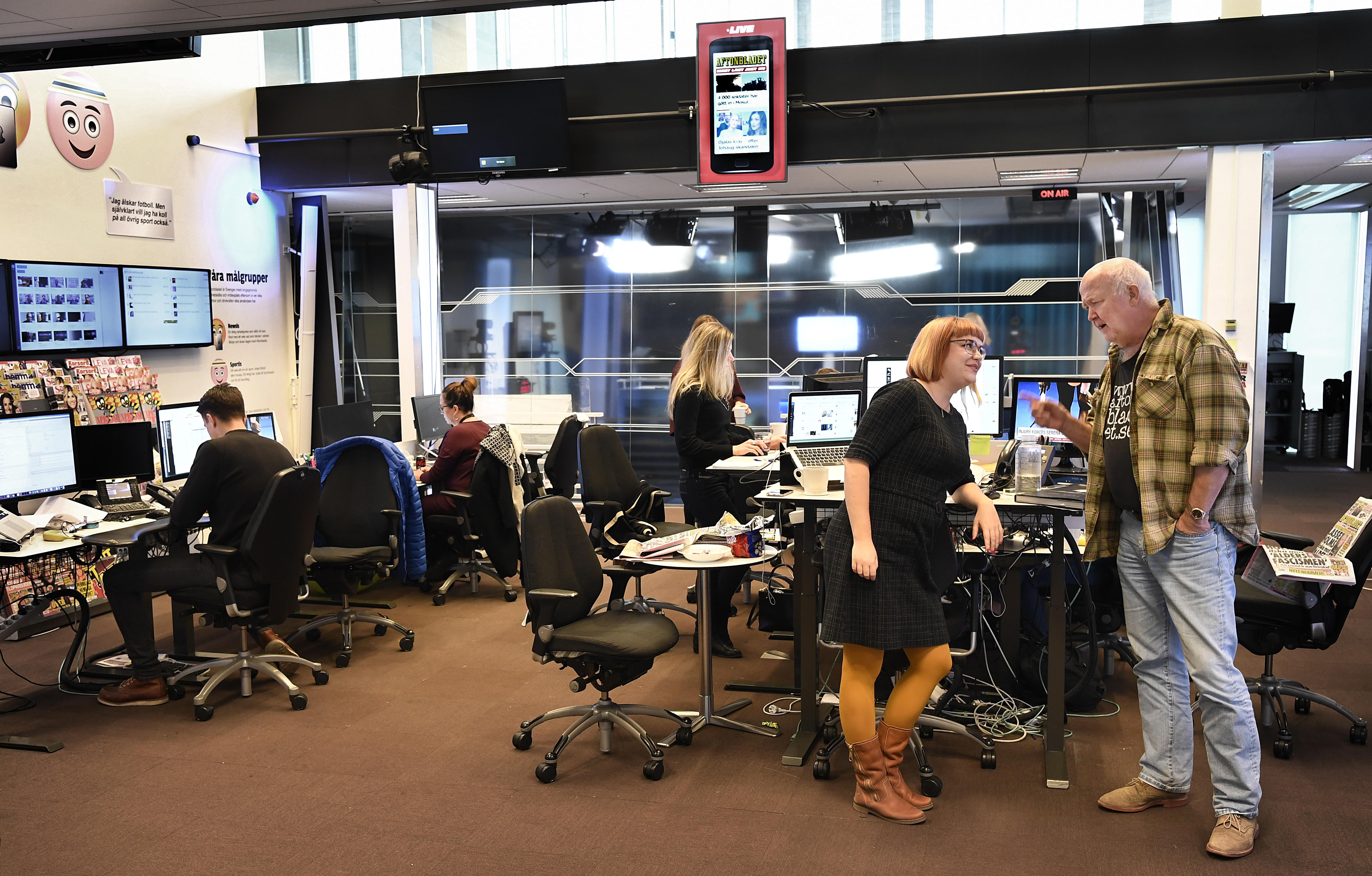Aftonbladet desk och tv studio