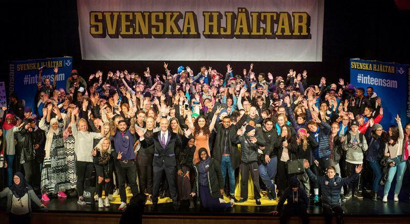 Svenska hjältar gruppbild