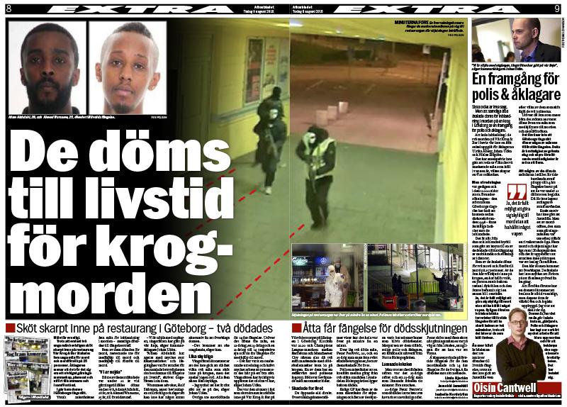 Aftonbladet 9 augusti 2016.