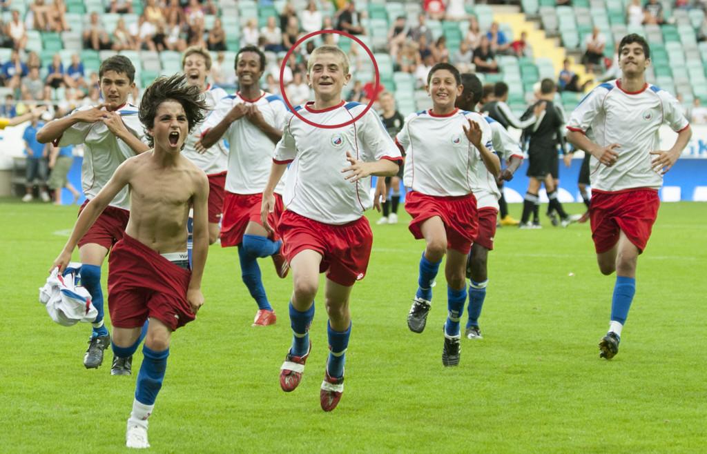 Josef Hällgren Abdulrahman (inringad) var en av de stora stjärnorna i laget. Foto: NILS JAKOBSSON