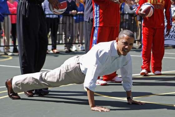 Barrack Obama uppgav att han under sina åtta som president tränade 45 minuter - sex gånger i veckan.